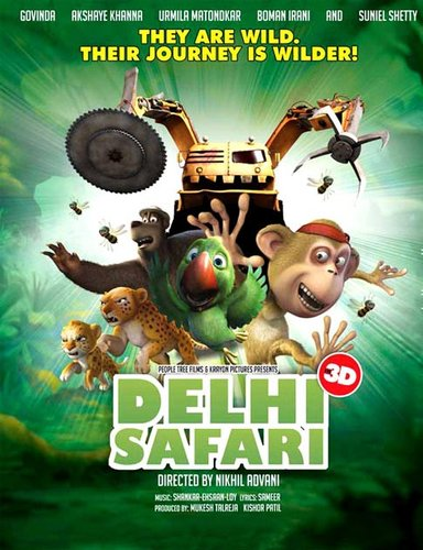 Delhi Safari (2012) DvdRip Hindi 500Mb