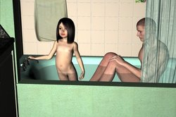 Bathing with Kayla 3D Adult Comics  COMICS